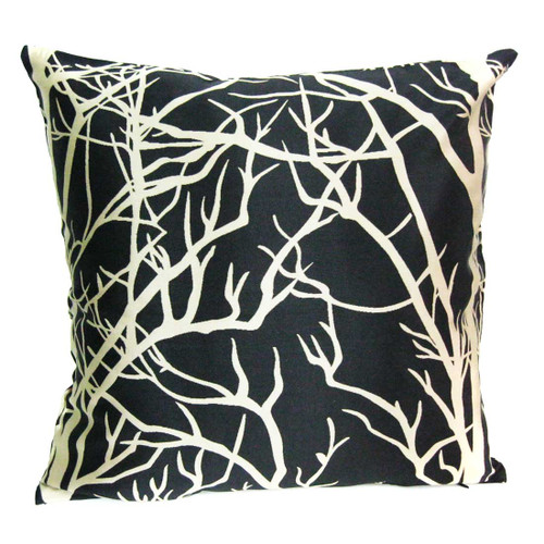 """kilofly Home Decorative Throw Pillow Cover, 18"""" x 18"""", Leaves, with kilofly Refrigerator Magnet"""