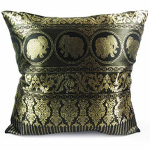 "kilofly Home Decorative Throw Pillow Cover, 18"" x 18"", Thai Elephant, with kilofly Refrigerator Magnet"