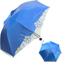 kilofly Anti-UV Folding Color Gradient Parasol Umbrella, UPF 40+