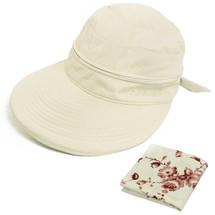 kilofly UV Protection Wide Brim Summer Lightweight 2in1 Visor Sun Hat