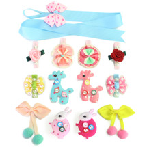 kilofly Pretty Girl Colorful Mix Hair Clips Value Pack [Set of 12 + Clip Holder]