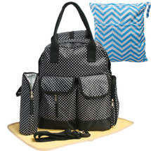 KF Baby Large Capacity Travel Backpack Diaper Bag + Changing Pad Value Combo Set