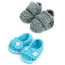 kilofly Socks Baby Boy Newborn Infant Hand Crochet Shoes Booties, Set of 2