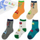KF Baby Boy Cozy Soft Thick Socks Value Pack, 5 pairs, Toddlers to Little Boys