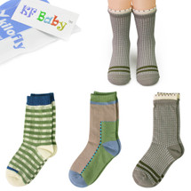 KF Baby Toddler Boys Soft Cotton Socks Value Pack, 3 pairs, Infants to Toddlers