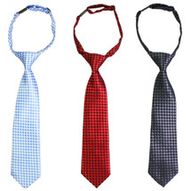 kilofly Pre-tied Adjustable Neck Strap Tie Boys Necktie Value Set of 3
