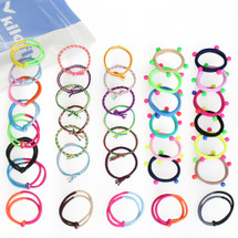 kilofly Girls Elastic Hair Ties Ponytail Holders Value Pack, Set of 36