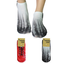 kilofly Funny Novelty Photo Socks Value Pack [Set of 2 Pairs], Footprints