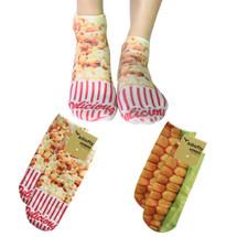 kilofly Funny Novelty Photo Socks Value Pack [Set of 2 Pairs], Sweet Popcorn