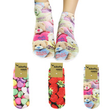 kilofly Funny Novelty Photo Socks Value Pack [Set of 3 Pairs], Candy House