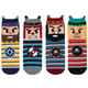 kilofly Novelty Crew Socks Value Pack [Set of 4 Pairs] - Caribean Pirates