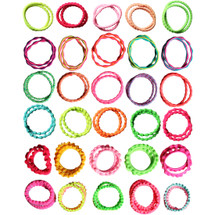 kilofly Girls Elastic Hair Ties Ponytail Holders Bands Value Pack, Set of 60
