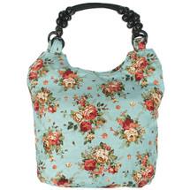 kilofly Bohemian Beaded Top Handle Cloth Handbag Shoulder Bag