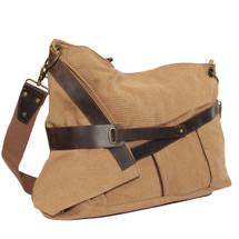 kilofly Casual Large Canvas Messenger Crossbody Shoulder Bag