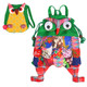 kilofly Colorful Owl Drawstring Backpack Bag + Coin Purse Pouch Combo Set