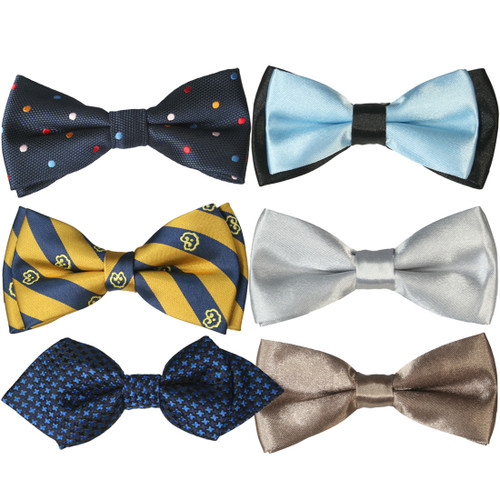 kilofly Pre-tied Adjustable Boys Baby Neck Bow Ties Mixed Value Pack, Set of 6