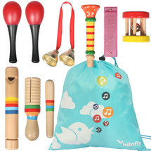 kilofly Kids Mini Band Musical Instruments Rhythm Toys Value Pack [Set of 8]