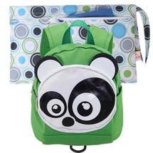 KF Baby Safety Harness Leash Toddler Backpack + Wet Dry Travel Bag, Set of 2