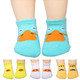 KF Baby Non-Skid Cotton Socks Value Pack, Set of 4 Pairs, Infants to Toddlers