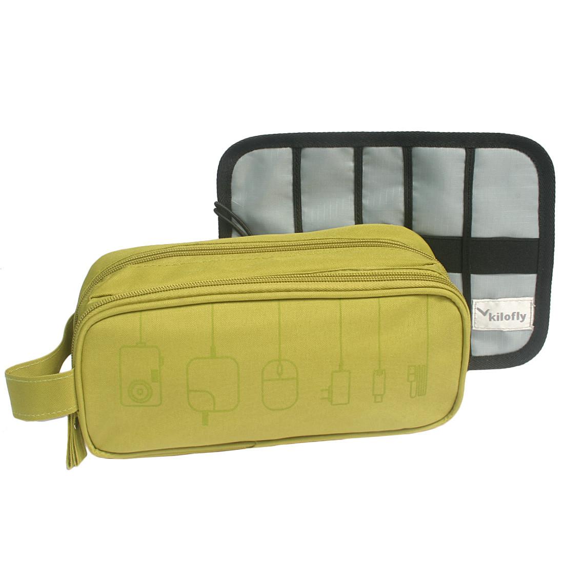 849899f602 kilofly Universal Cable Organizer Bag Roll Up Folding Travel Case (Set of  2). Loading zoom
