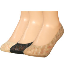 kilofly Invisible Silicone Heel Grip Low Cut No Show Liner Socks, Set of 3 Pairs