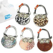 kilofly Foldable Purse Hook Handbag Hanger Holder, Set of 5, with Gift Pouch