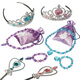 kilofly Princess Party Favor Value Pack, Tiara Wand Necklace Bracelet - 2 Sets