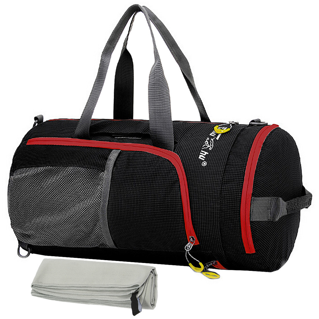 db3a9c93c4 kilofly Foldable Ultra Light Sport Backpack Duffel Gym Bag + Quick Dry  Towel Set. See more images