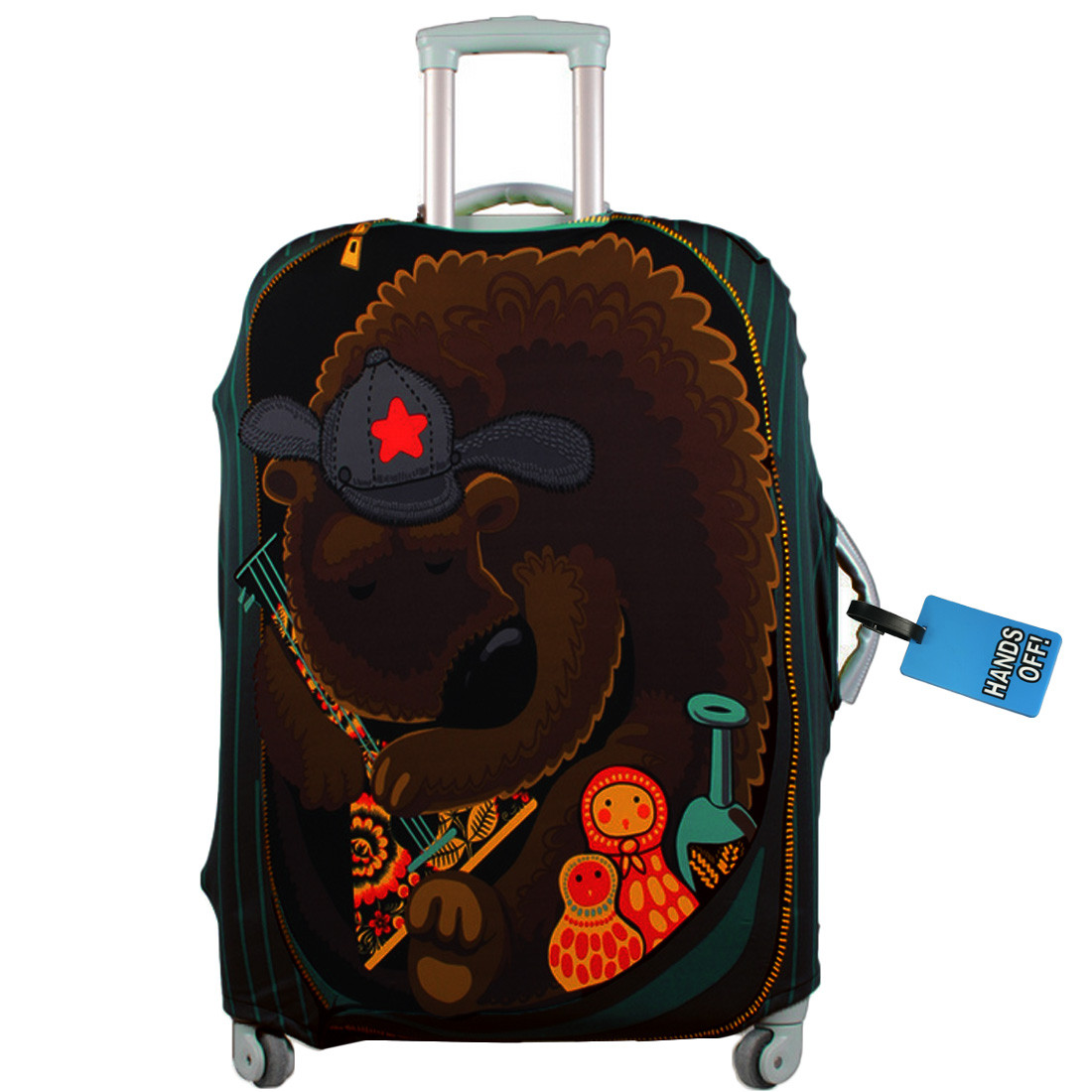 37885ddd5ae1 kilofly Travel Suitcase Trolley Case Cover Protector 18 - 30 Inch + Luggage  Tag