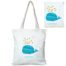 kilofly Cotton Canvas Shopping Tote Shoulder Bag + Matching Pouch Combo Set