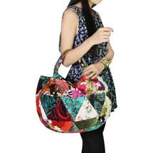 kilofly Bohemian Top Handle Cloth Shoulder Bag Handbag Tote