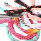 kilofly 12pc Girls Bunny Rabbit Ear Wired Hair Tie Twist Scarf Bow Headband Set