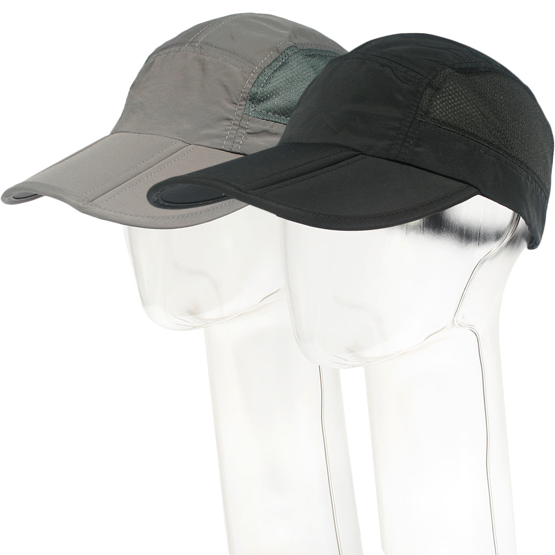 82bcdf7a4a249 kilofly Mens Foldable Lightweight Quick Dry Adjustable Outdoor Cap, Set of 2.  See more images