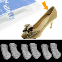 kilofly Silicone Cushion Shoe Insoles - Foot Arch [Set of 3]