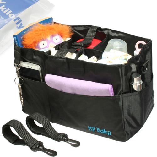 KF Baby Diaper Bag Insert Stroller Organizer, w/ Handle & 2 Attachable Straps