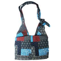 kilofly Bohemian Large Folding Cloth Crossbody Shoulder Bag, Adjustable Strap, Blocks