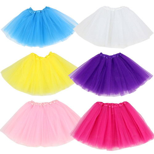 kilofly 6pc Girls Ballet Tutu Kids Birthday Princess Party Favor Dress Skirt Set