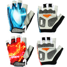 kilofly Breathable Silicone Gel Half Finger Cycling Biking Gloves, 2 Pairs Set
