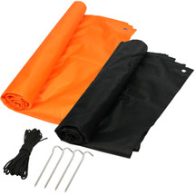 kilofly 2pc Lightweight Outdoor Picnic Beach Mat Value Pack + 4 Pegs, 10m Rope