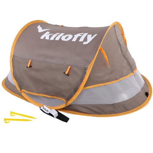 kilofly Baby Toddler (Medium) Instant Pop Up UPF 35+ Travel Beach Tent + 2 Pegs