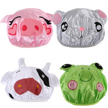 kilofly 4pc Waterproof Reusable Bath Hat Kids Fun Cartoon Animal Shower Caps Set