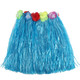 kilofly 12pc Girls Elastic Hawaiian Dancer Grass Hula Skirts Luau Party Favors