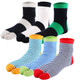 kilofly 6 Pairs Unisex Striped Flip Flop Split V-Toe Tabi Socks Value Pack