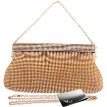 kilofly Women's Crystal Evening Bag Cocktail Clutch Purse Handbag + Money Clip