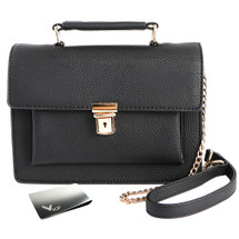 kilofly Women Top-Handle Crossbody Chain Purse Satchel Shoulder Bag + Money Clip