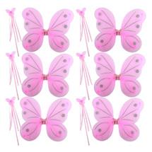 kilofly 6 Sets Princess Party Favor Jewelry Fairy Costume Dress Up Role Play