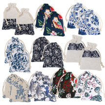kilofly 20pc Chinese Jewelry Coin Purse Pouch Floral Print Drawstring Gift Bag