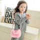 kilofly 2pc Little Girls Plush Purse Handbag Shoulder Bag + Detachable Strap Set