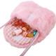 kilofly Little Girls Plush Purse Handbag Shoulder Bags + Faux Pearl Jewelry Set