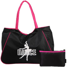 kilofly Girl's Water Resistant Ballet Dance Shoulder Bag Handbag + Beauty Pouch